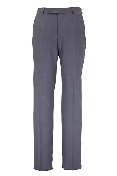 Ermenegildo Zegna - Charcoal Gray High Performance Wool Pant