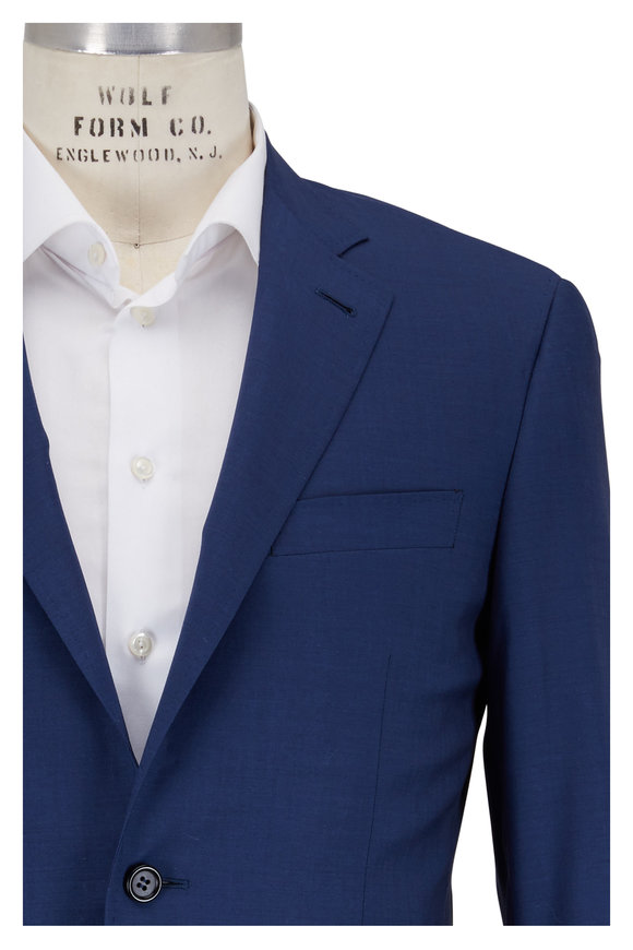 Canali Kei Navy Blue Wool Suit