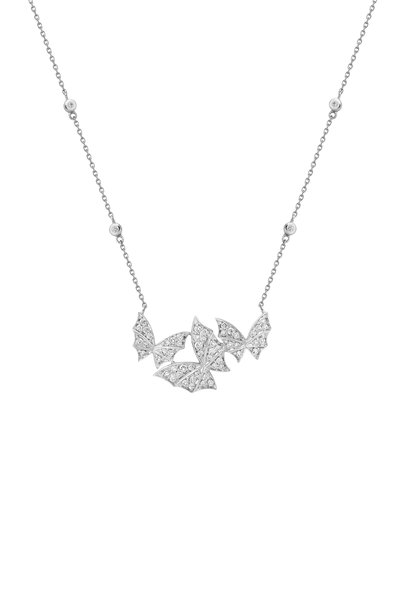 Stephen Webster - 18K White Gold Pavè Fly By Night Necklace