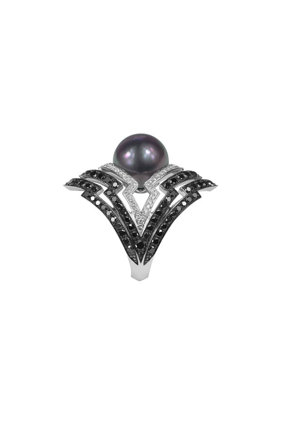 Stephen Webster 18K White Gold Pearl Lady Stardust Ring