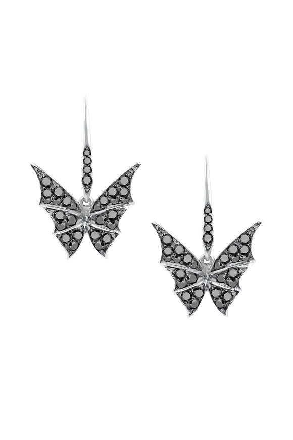 Stephen Webster 18K White Gold Pavè Fly By Night Earrings
