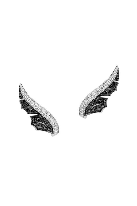 Stephen Webster 18K White Gold Small Feather Climber Earrings