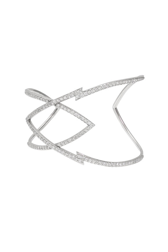 Stephen Webster 18K White Gold Pavè Lady Stardust Cuff