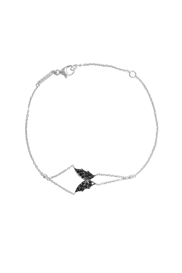 Stephen Webster 18K White Gold Pavè Fly By Night Mini Bracelet