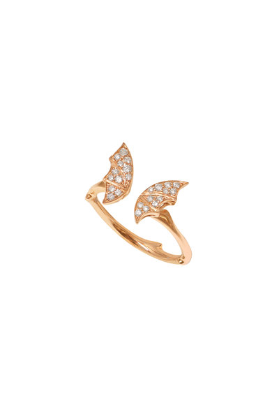 Stephen Webster - 18K Rose Gold Pavè Fly By Night Stack Ring