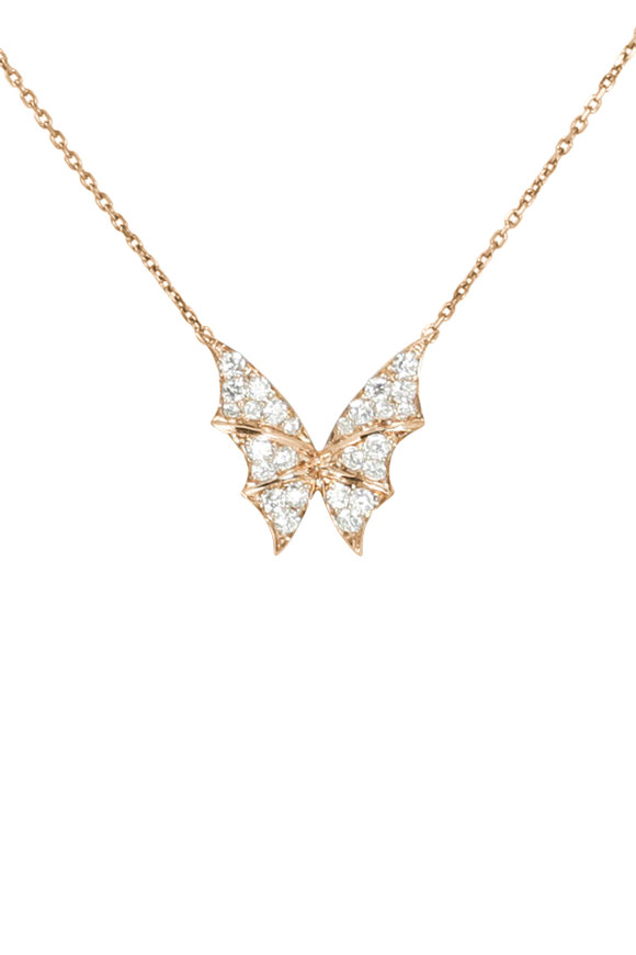 Stephen Webster 18K Rose Gold Pavè Fly By Night Necklace