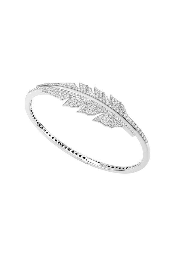Stephen Webster 18K White Gold Diamond Feather Cuff