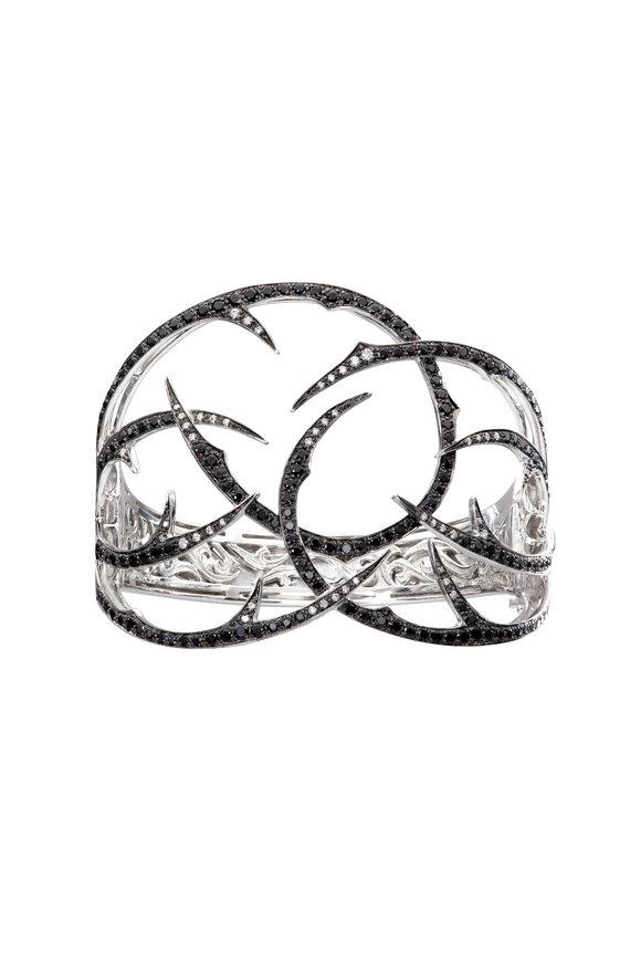 Stephen Webster 18K White Gold Black Diamond Thorn Cuff