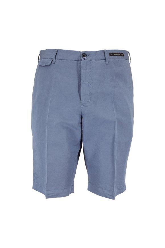 PT01 Slate Linen Blend Bermuda Shorts
