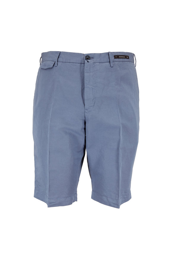 PT Pantaloni Torino Slate Linen Blend Bermuda Shorts