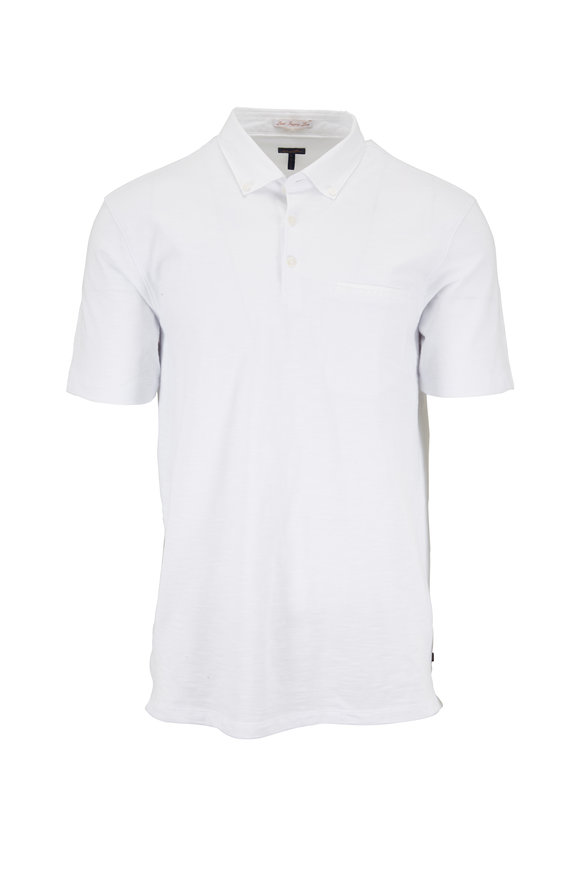 Good Man Brand White Slub Cotton Pocket Polo