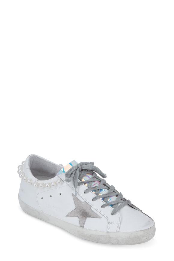Golden Goose Women's Superstar White Pearl Detail Sneaker