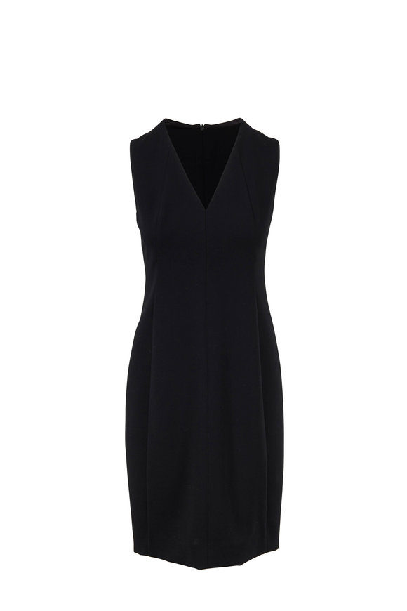 Akris Black Wool Double-Faced Dress