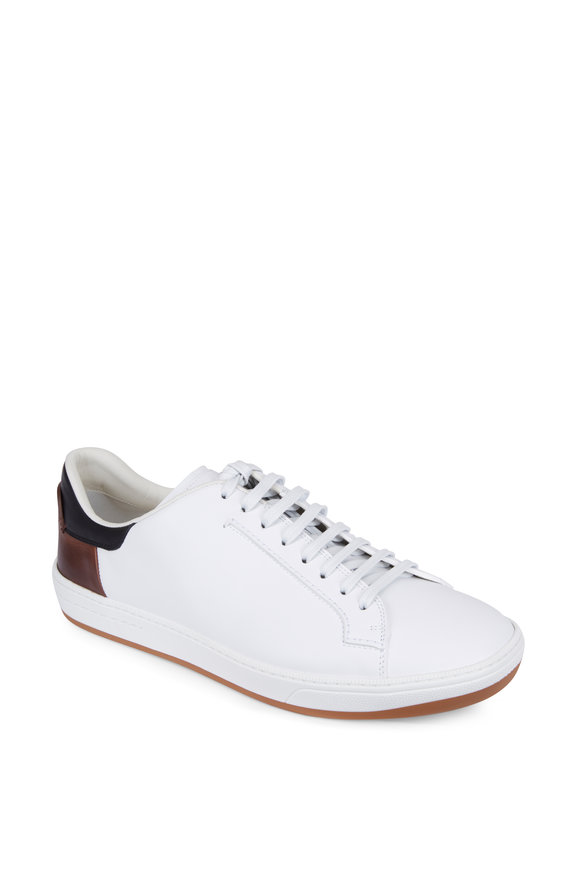 Berluti Burano Outline White & Brown Leather Sneaker