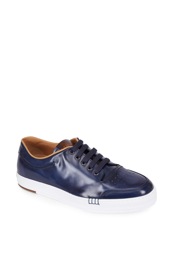 Berluti Playtime Palermo Dark Blue Leather Sneaker