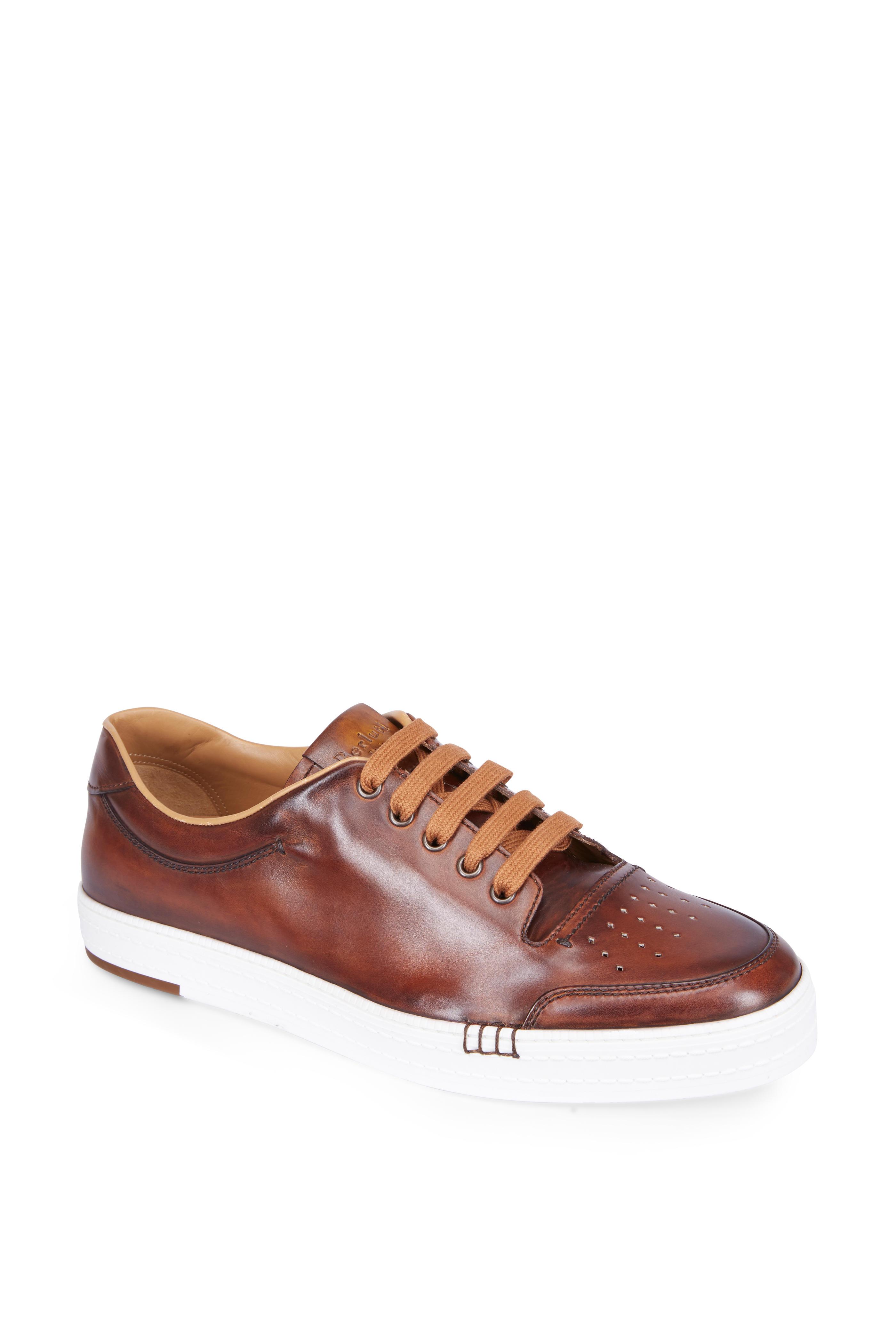 Cognac Brown Palermo Berluti Leather Mitchell Playtime Sneaker vPwwqBA