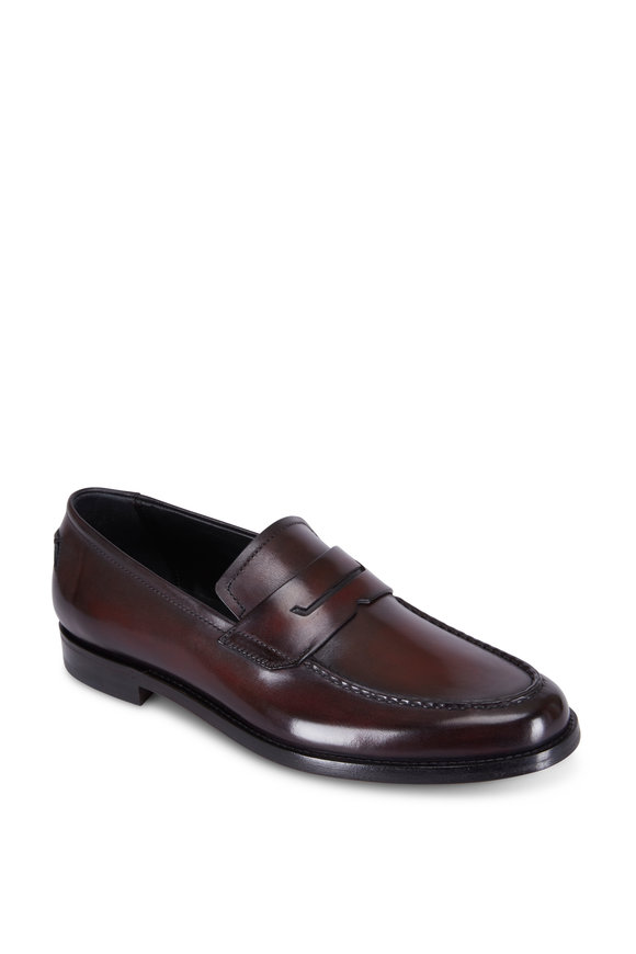 Berluti Gianni Sapienza Bordeaux Leather Loafer