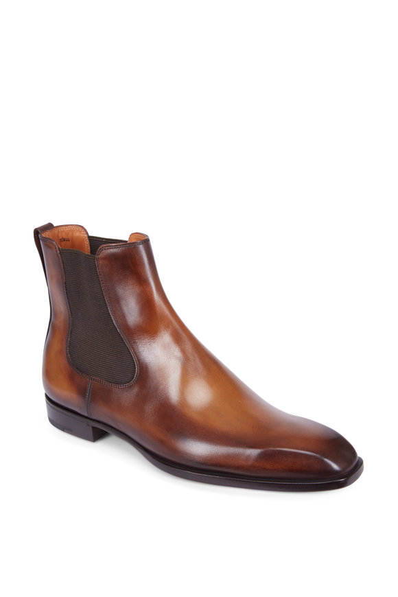 Berluti Classic Capri Tobacco Leather Boot