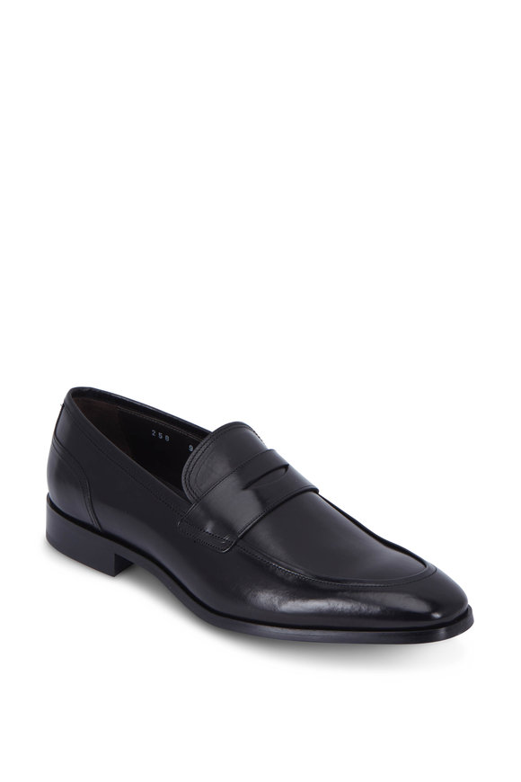 To Boot New York Deane Black Leather Penny Loafer