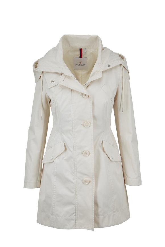 Moncler Audrey Off-White Nylon Hooded Jacket
