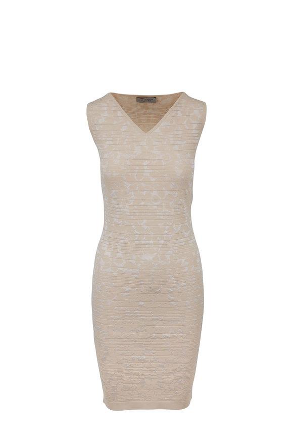 D.Exterior Nude Stretch Knit Sleeveless Dress