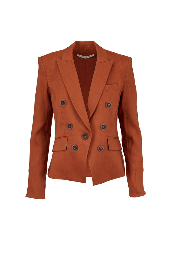 Veronica Beard Diego Terracotta Dickey Jacket