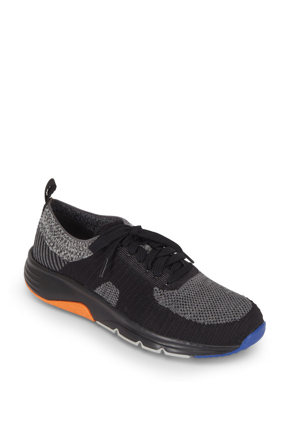Camper  Drift Black Knit & Nylon Runner Sneaker