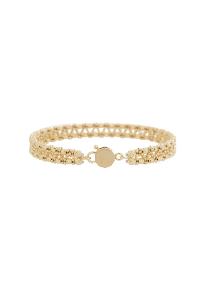 Alberto Milani - 18K Yellow Gold Double Row Beaded Bangle