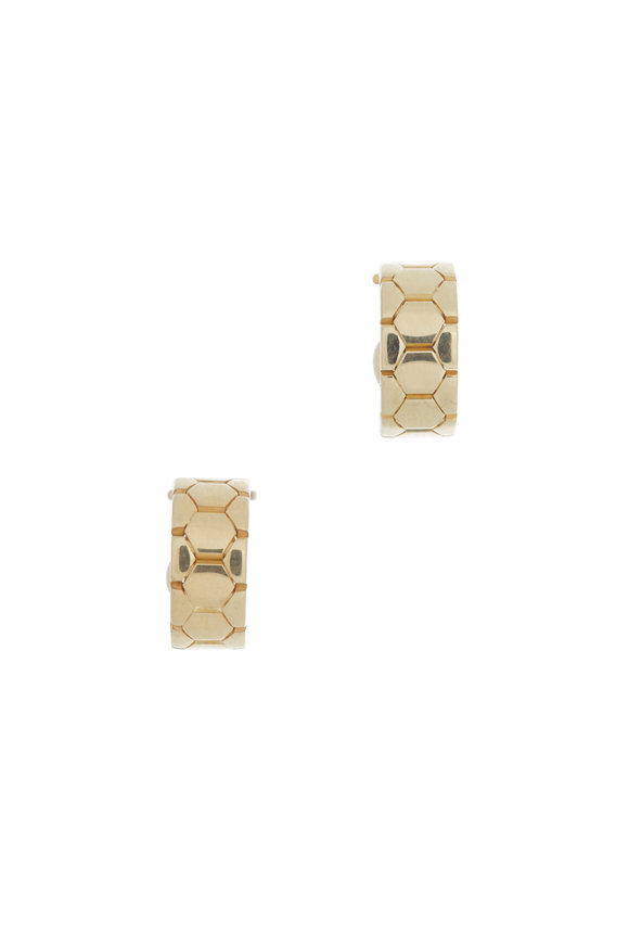 Alberto Milani 18K Yellow Gold Castello Huggie Earrings