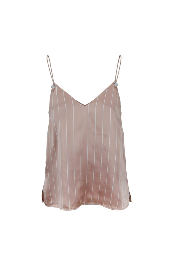 Cami NYC The Lola Oyster Silk Striped Cami