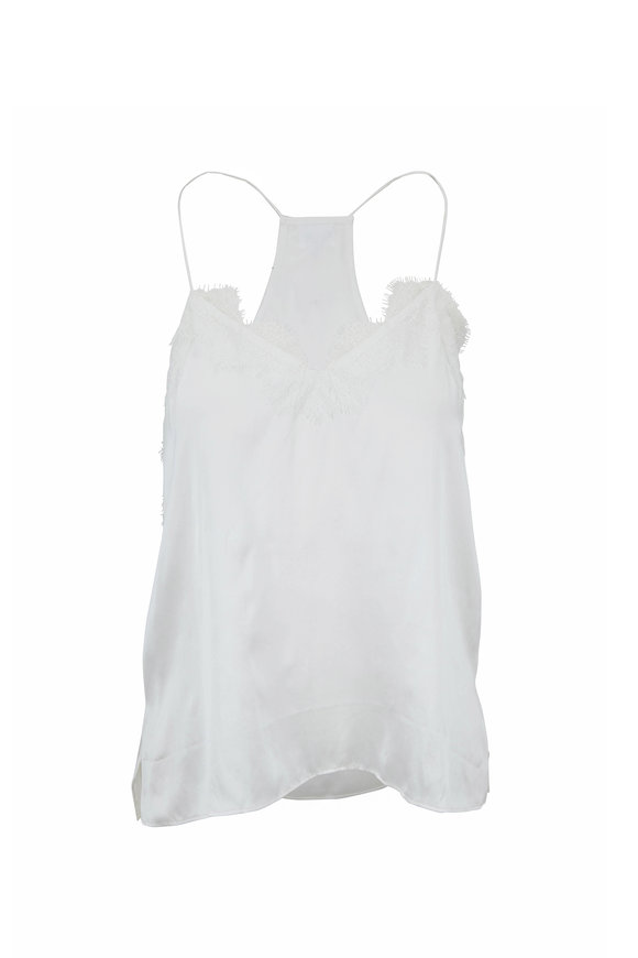 Cami NYC Butter Charmeuse Racer Tank