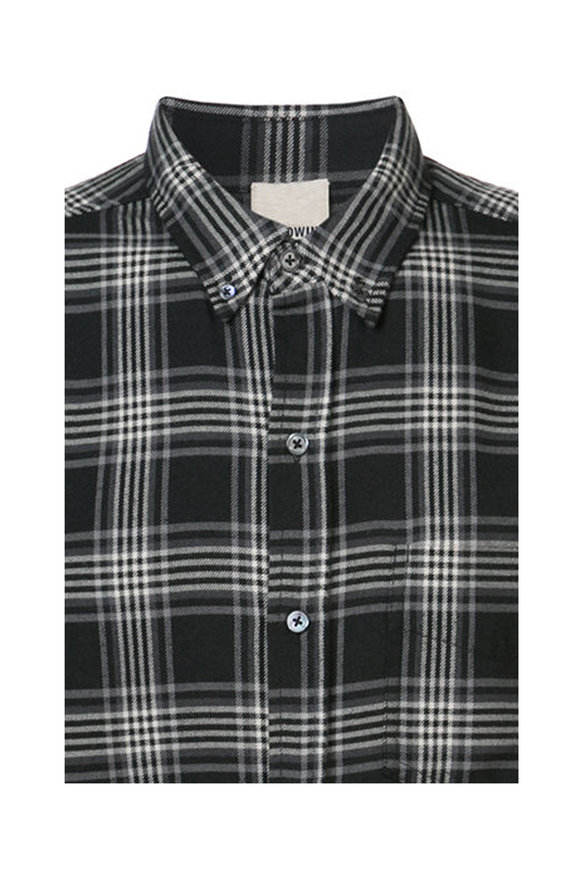 Baldwin William Black & White Plaid Woven Sport Shirt