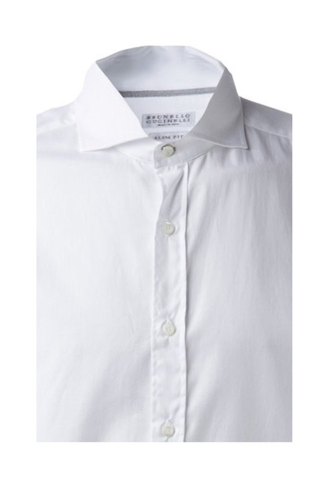 White Cotton Sport Shirt