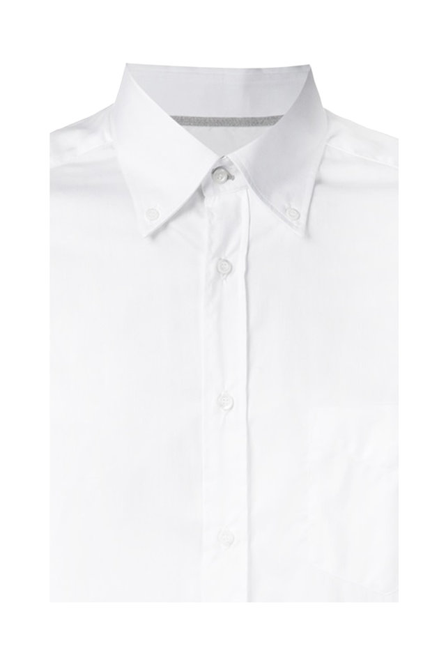 White Cotton Sport Shirt