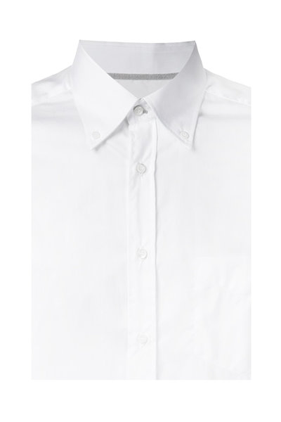 Brunello Cucinelli - White Cotton Sport Shirt