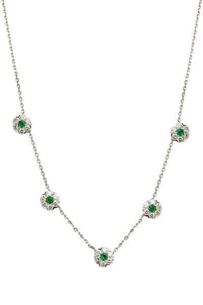 Oscar Heyman - Platinum & Gold Emerald & Diamond Necklace