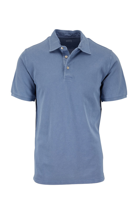 Fedeli Light Blue Piquè Polo