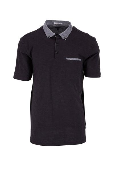 Good Man Brand - Black Cotton Pocket Polo