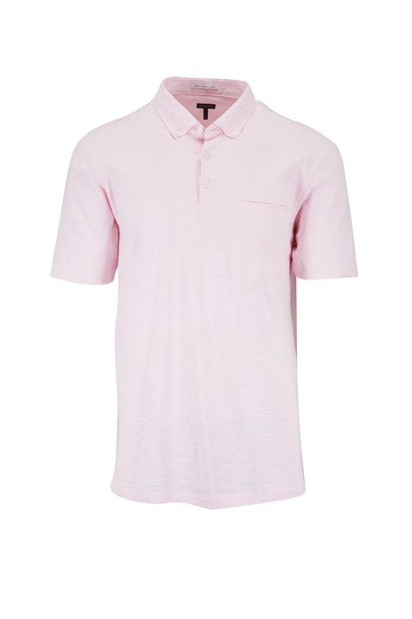 Good Man Brand Light Pink Slub Cotton Pocket Polo