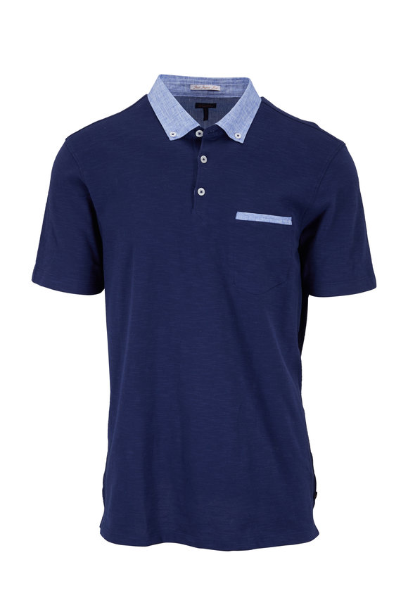 Good Man Brand Dodger Blue Pocket Polo