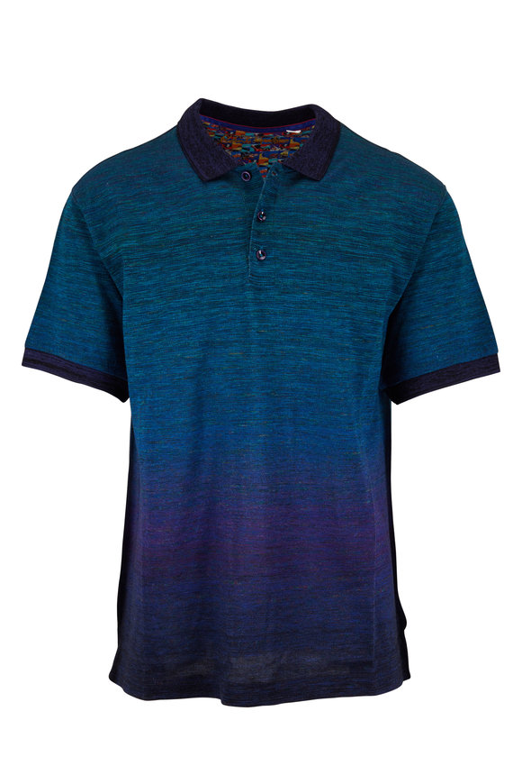 Robert Graham Catalan Blue Ombre Classic Fit Polo