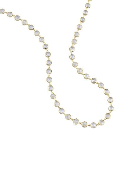 Irene Neuwirth - Yellow Gold Rainbow Moonstone Necklace