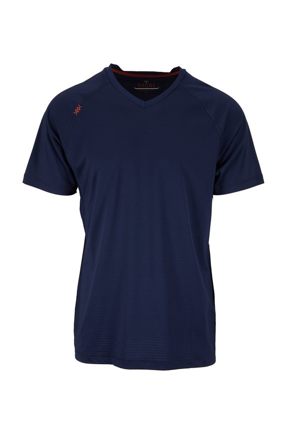 Rhone Apparel Sentry Navy Blue Performance T-Shirt