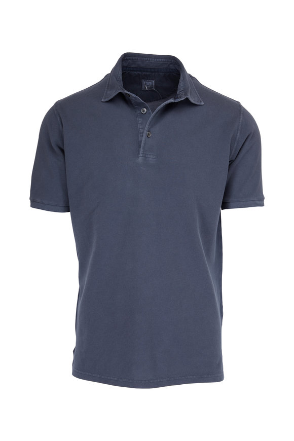 Fedeli Faded Grey Piqué Polo