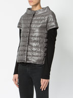 Herno - Charcoal Gray Shiny Puffer Cardigan