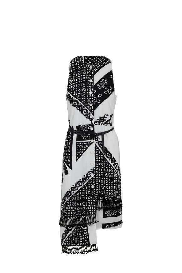 Altuzarra White Bandana Print Sleeveless Dress