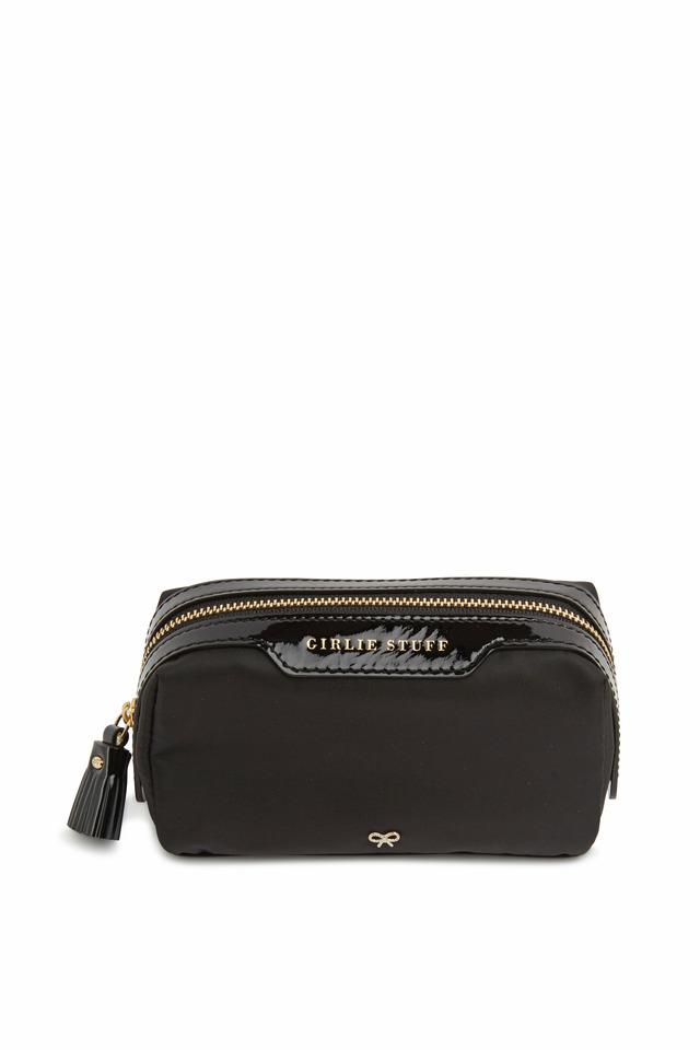 Girlie Stuff Black Nylon Cosmetic Bag