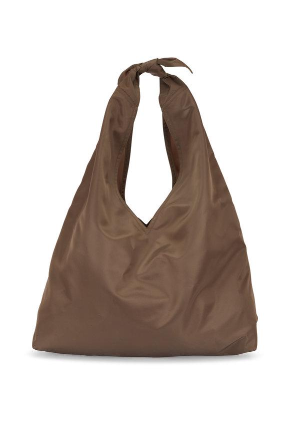 The Row Bindle Taupe Nylon Hobo Bag