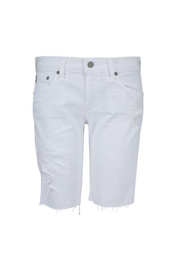 AG - Adriano Goldschmied The Nikki White Bermuda Shorts