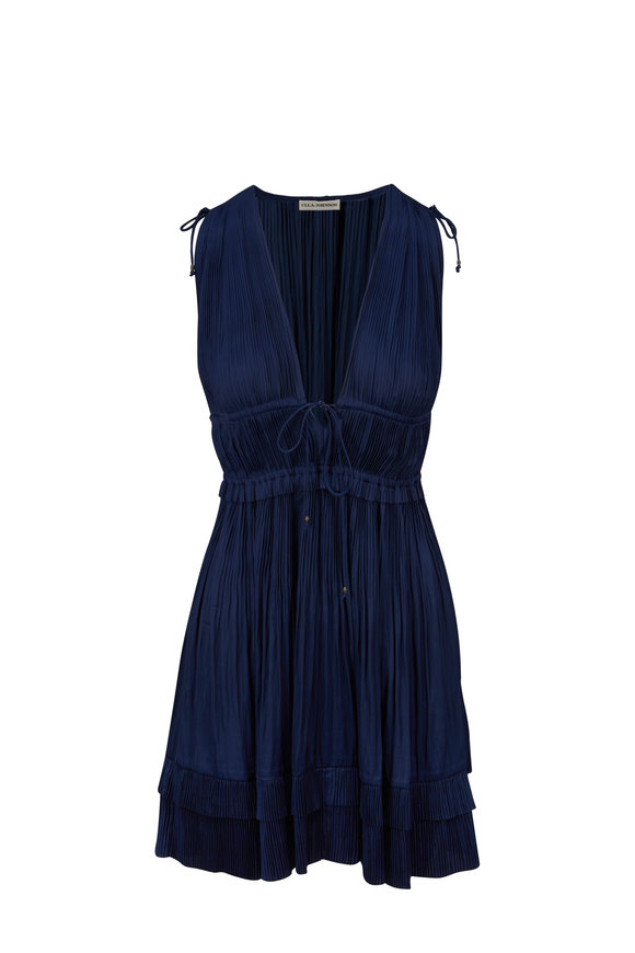Ulla Johnson Giselle Midnight Plissè Dress